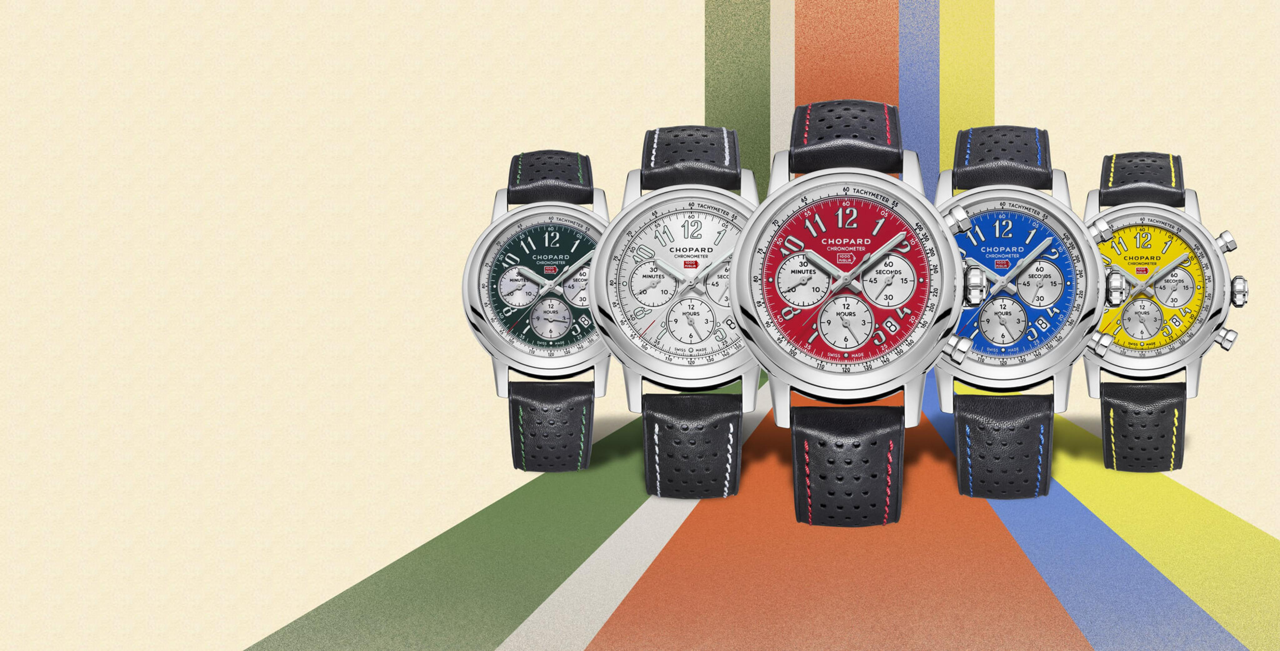 Mille Miglia Racing Colors watches